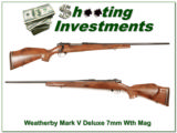 Weatherby Mark V Deluxe 7mm Wthy mag!