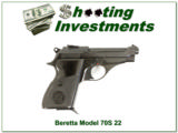 Beretta 70S made in Italy 22 Exc Cond