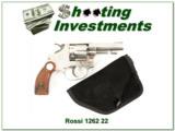 Hard to find Rossi 22LR Revolver 1262 Nickel - 1 of 4
