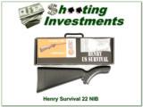 Henry Survival 22LR NIB 3 Magazines!