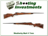 Weatherby Mark V Deluxe 7mm Wthy Mag XX Wood!