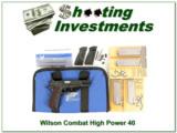 Wilson Combat Browning Hi-Power RARE 40 S&W