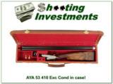 AYA Model 53 Rare 410 collector condition in case!