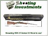 Browning 1885 Low Wall 22 Hornet XX Wood ANIB