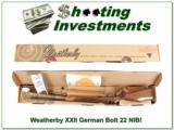 Weatherby XXII 22 Bolt action Anschutz NEW!!