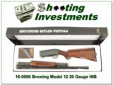 Browning Model 12 20 nice wood NIB