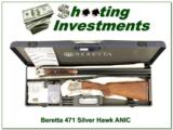 Beretta 471 Silver Hawk 20 Gauge SxS unfired in case!