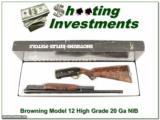 Browning Model 12 High Grade 5 20 Ga XXX NIB