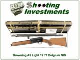 Browning A5Light 12 71 Belgium unfired in box!