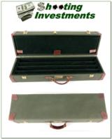 Green Canvas and Leather 4-barrel set shotgun case