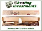 Weatherby XXII 22 Bolt action Anschutz made ANIB