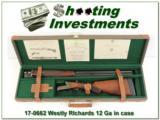 Westley Richards 12 Gauge Exc Cond in case