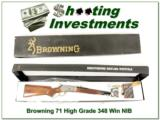 Browning Model 71 Carbine High Grade 348 Win NIB
