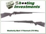 Weatherby Mark V original Fibermark 26in 270 Wthy Mag - 1 of 4