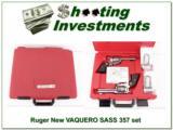 Ruger New VAQUERO SASS 357 2 gun set!