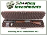 Browning A5 Ducks Unlimited Sweet Sixteen NIC!