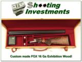 AH Fox 16 Ga Custom Exhibition Grade new and unfired!