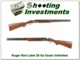 Ruger Red Label 28 Gauge Quails Unlimited