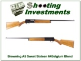 Browning A5 Sweet Sixteen 64 Belgium blond near new!