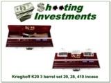 Krieghoff K20 3 barrel set 20, 28 & 410 in case