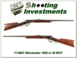 Winchester 1892 38 WCF made in 1909 round barrel