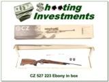 CZ-USA 527 RARE Ebony Edition .223 NIB