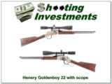 Henry Goldenboy 2LR with Barska 6-24 Target scope