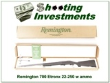 Remington 700 EtronX in 22-250 NIB with 100 rounds of ammo!