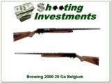 Browning 2000 Belgium made 20 Gauge Magnum VR!