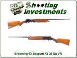 Browning A5 63 Belgium 20 Gauge 28in VR Mod