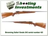 Browning 1963 Safari Grade 243 serial number 42!