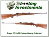 Ruger 77 Flattop Roundtop RS 25-06 LIBERTY near new!