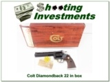 Colt Diamondback 22 LR 6in NIB!