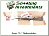 Ruger 77/17 17 HMR Skeleton Stock NIB!