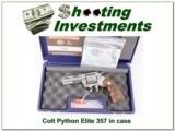 RARE Colt Python Elite 4in Stainless ANIC!