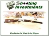 Winchester 94 John Wayne in 32-40 NIB!