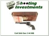 Colt SAA 7.5in Gen 3 44 NIB