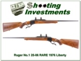 Ruger No.1 1976 Liberty rare 25-06 looks unfired