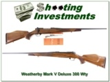 Weatherby Mark V Deluxe 300 Wthy near new