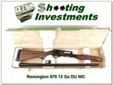 Remington 870 Ducks Unlimited 12 Ga unfired in box! - 1 of 4