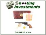 RARE 1981 Colt SAA 7.5in 357 NIB!