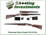 Browning Citori Grade 6 2 barrel set 28 and 410