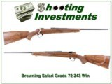 Browning Safari Grade 243 1972 made in Exc Cond