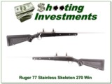 Ruger 77 All-weather 270 Stainless Skeleton stock!