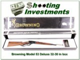 Browning Model 53 Deluxe 32-20 in box w/ Super Wood!