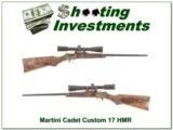 Martini Cadet custom Left Handed 17 HMR Custom XXX beauty!