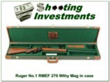 Ruger No. 1 RMEF 270 Wthy in case!