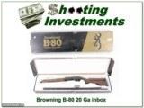 Browning B-80 20 Ga in box!