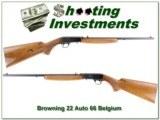 Browning 22 Auto 66 Belgium Honey Bold