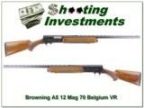 Browning A5 70 Belgium 12 Magnum VR